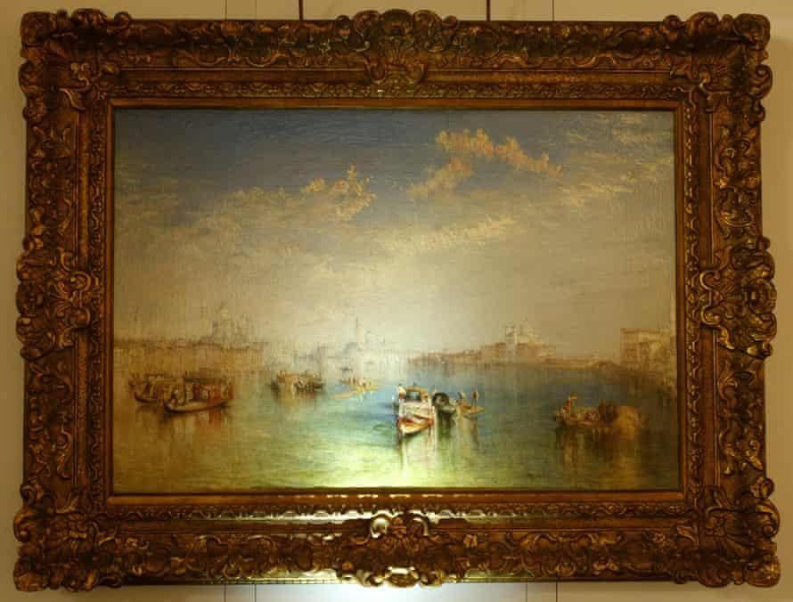 Giudecca, La Donna della Salute and San Giorgio by JMW Turner. Pissarro recommended the Turners he had seen in the museums to his son.