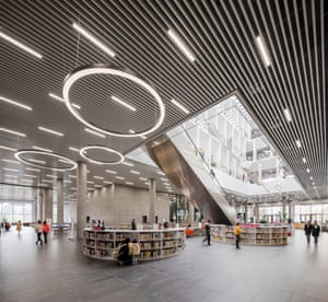 The interior of the Ningbo New Library