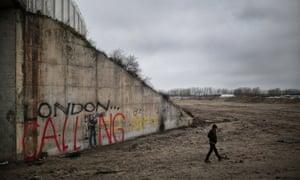 The entrance to Calais's Jungle camp.