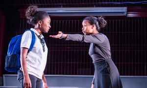 Adelayo Adedayo and Tsion Habte in Cuttin' It at the Young Vic.