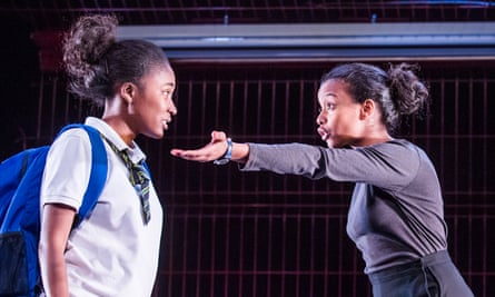 A message for everyone … Adelayo Adedayo as Muna and Tsion Habte as Iqra in Cuttin' It.