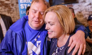 National leader Judith Collins met campaign volunteers on the as last day before the election.