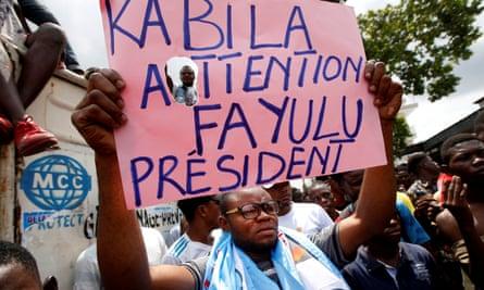 Martin Fayulu supporters