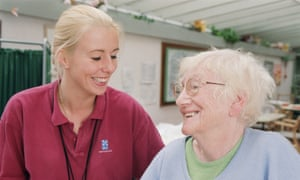 Physiotherapist and elderly woman