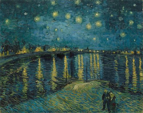 Starry Night Over the Rhône, 1888 by Van Gogh.