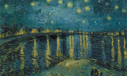 Being Dutch, living in London, painting France … Starry Night Over the Rhone, 1888.