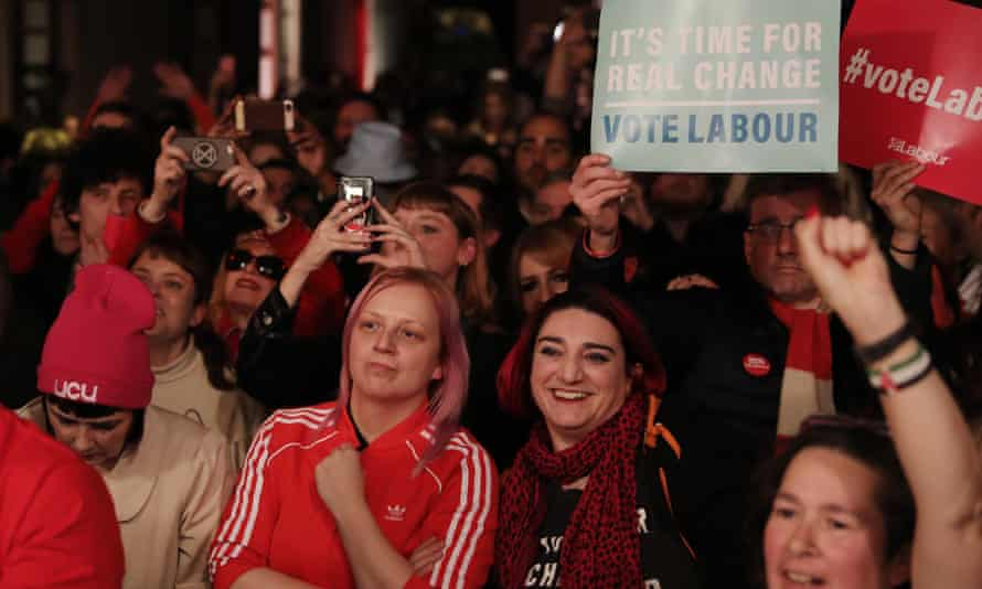 A Labour campaign rally in Hoxton, London, December 2019.