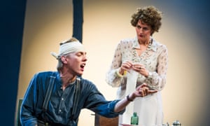 Anna Chancellor and Joshua James in The Seagull.