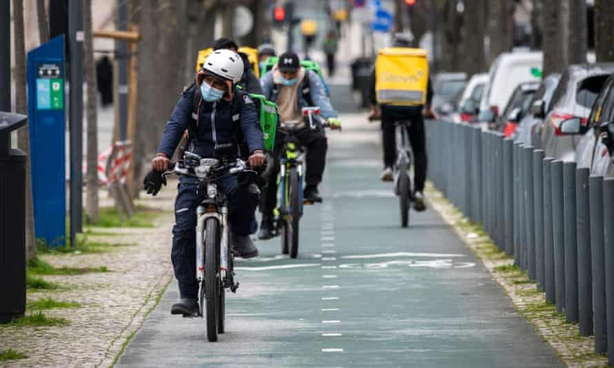 A Lisbon bike lane.