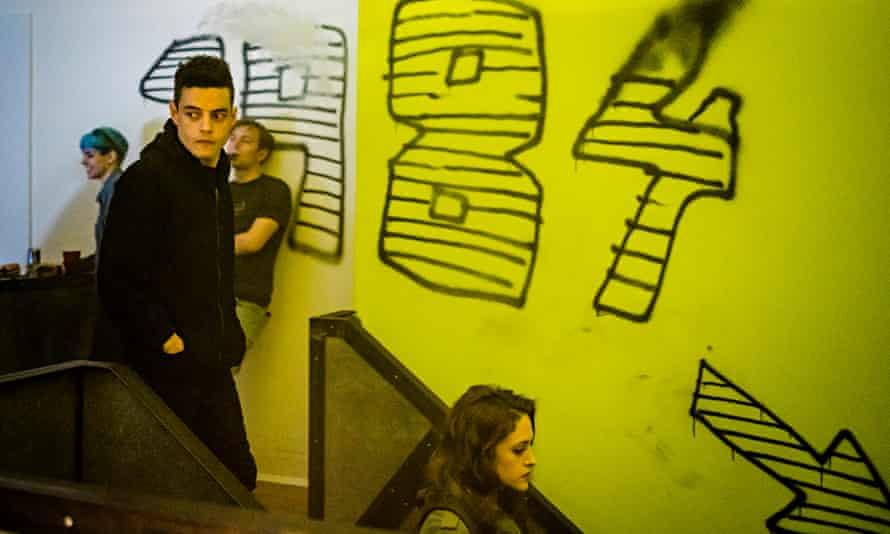 Rami Malek as Elliot Alderson in Mr Robot.