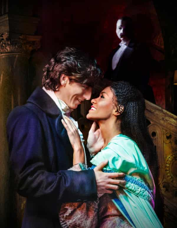 Rhys Whitfield as Raoul, Killian Donnelly as the Phantom and Lucy St Louis as Christine Daaé.