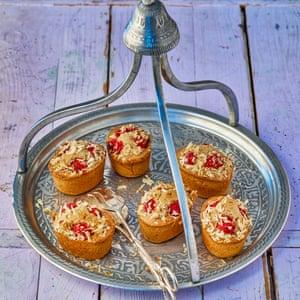 Hazelnut and raspberry friands.