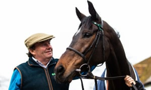 Nicky Henderson and Altior during Nicky Henderson's media day
