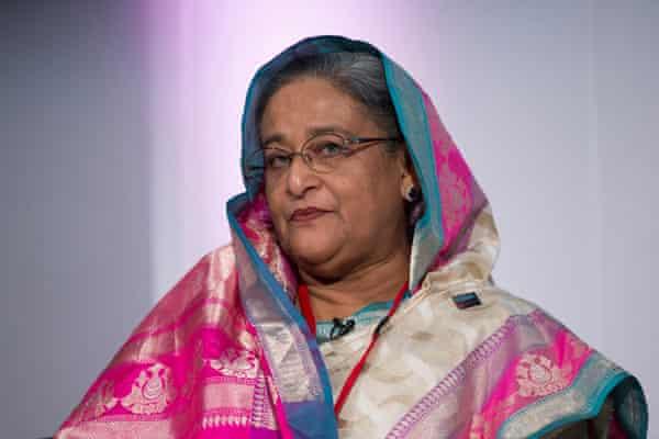 Bangladesh's prime minister Sheikh Hasina, in London, July 2014