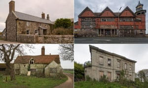 Clockwise from top left: Botallack Manor in Cornwall, the Everton Library in Liverpool, Cliff House School in Leeds and Cholley's Farmhouse in Essex.