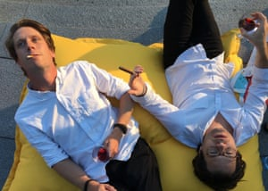 Carl Cederström and André Spicer during July, their month of pleasure.