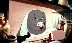 """All animals are equal, but some are more equal than others."" A still from the 1954 animated film of Orwell's Animal Farm."