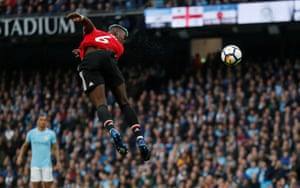 Pogba steers a header home for the equaliser.