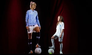 Manchester City and England football captain, Steph Houghton, takes part in the UK's first 5G holographic call