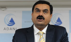 Chairman of the Adani Group Gautam Adani speaks during a press conference in Ahmedabad.