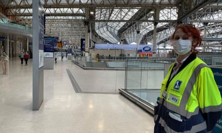 Annamaria, one of the marshals at Waterloo station, hired to help steward workers when they return