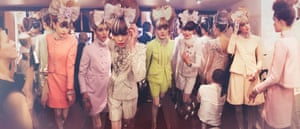Pastel and bows, the backstage line-up at the SS10 haute couture show. Pavillon Cambon Capucines, Paris