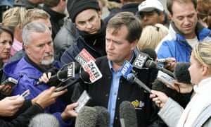 Bill Shorten as a union official in 2006, updating the media about two miners trapped underground in Tasmania's Beaconsfield goldmine.