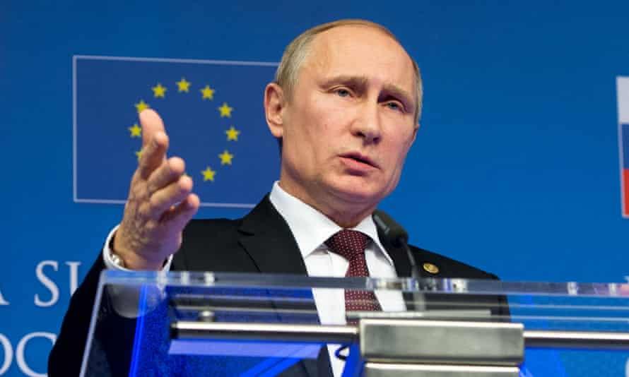 Vladimir Putin at the EU-Russia summit in January 2014