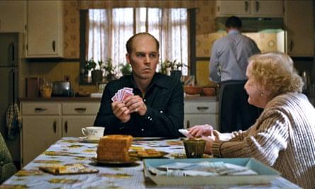 Wiseguy … Johnny Depp as James 'Whitey' Bulger in Black Mass.