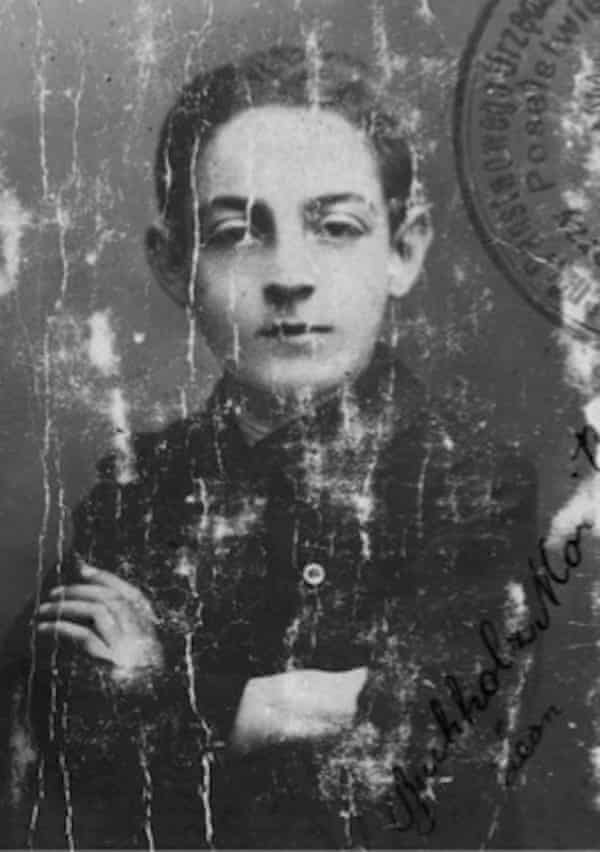 Philippe Sands's grandfather Leon as a youth.