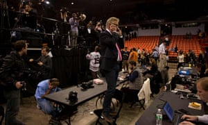 US journalists have been denied the chance to question Donald Trump.