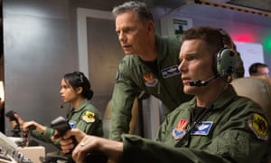 Ethan Hawke with Zoe Kravitz and Bruce Greenwood, in Good Kill