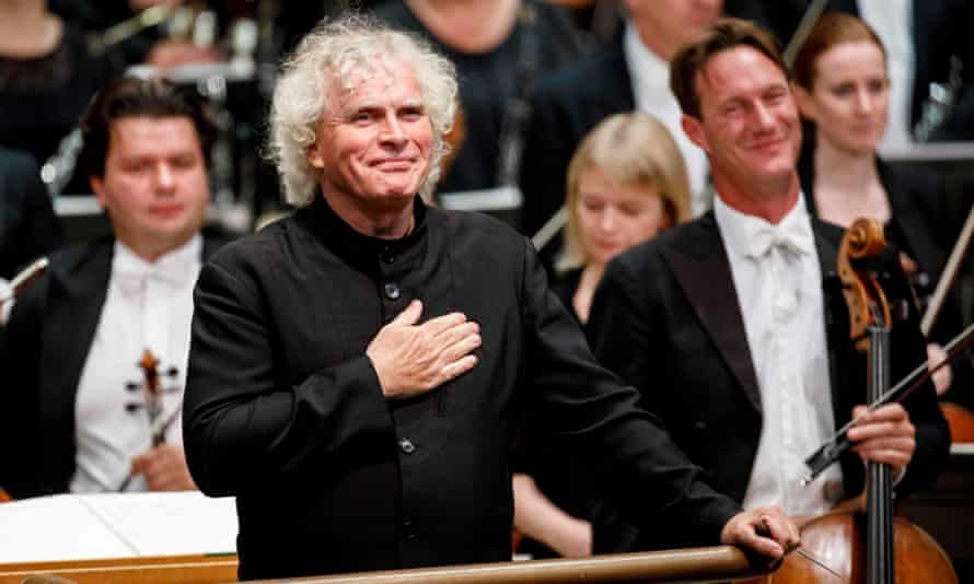 Homecoming king… Simon Rattle with the LSO at the Barbican in September.