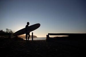 Nick Hopkins at McKenzies beach at dawn
