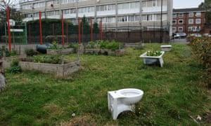 Community garden on a council estate.
