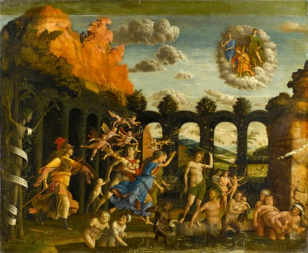 An unsettling surreal masterpiece ... Minerva Expelling the Vices from the Garden of Virtue, 1500–02.