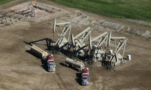 An oil field in North Dakota.