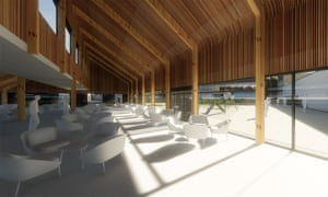 'Akin to an Ikea cafe' … CGIs of the proposed HMP Wellingborough visitor centre.