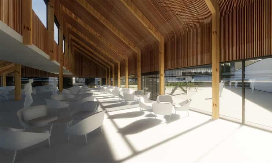 CGI of the proposed HMP Wellingborough visitor centre