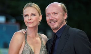 Haggis with Charlize Theron at the Venice film festival in 2007.