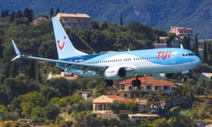 a Tui plane takes off from Corfu