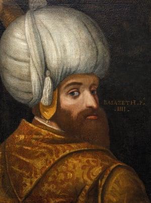A portrait of Sultan Bayezid I.