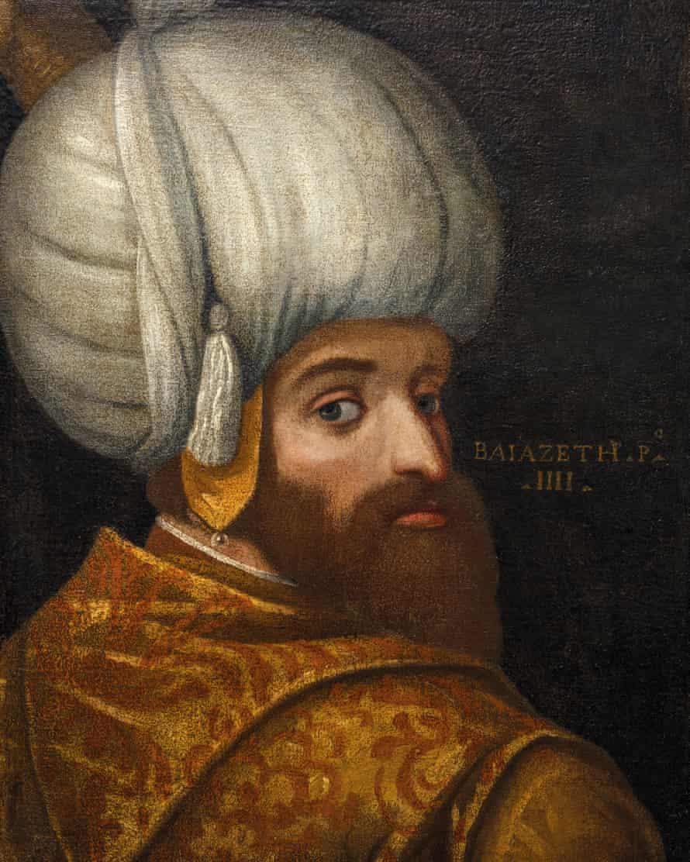 School of Veronese (1528–1588), A Portrait of Sultan Bayezid I. Oil on canvas, c. 1580. © Islamic Arts Museum Malaysia