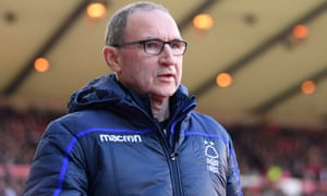 Martin O'Neill has lasted only 19 games as Nottingham Forest manager