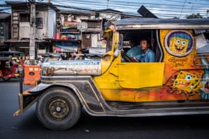 Manila is developing fast, and the jeepney is considered a dinosaur because of its old-fashioned look and diesel engine