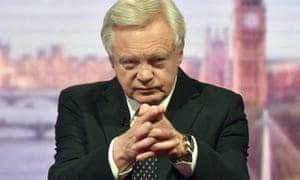 Brexit secretary David Davis on the Andrew Marr Show on Sunday.