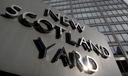 the sign outside New Scotland Yard.