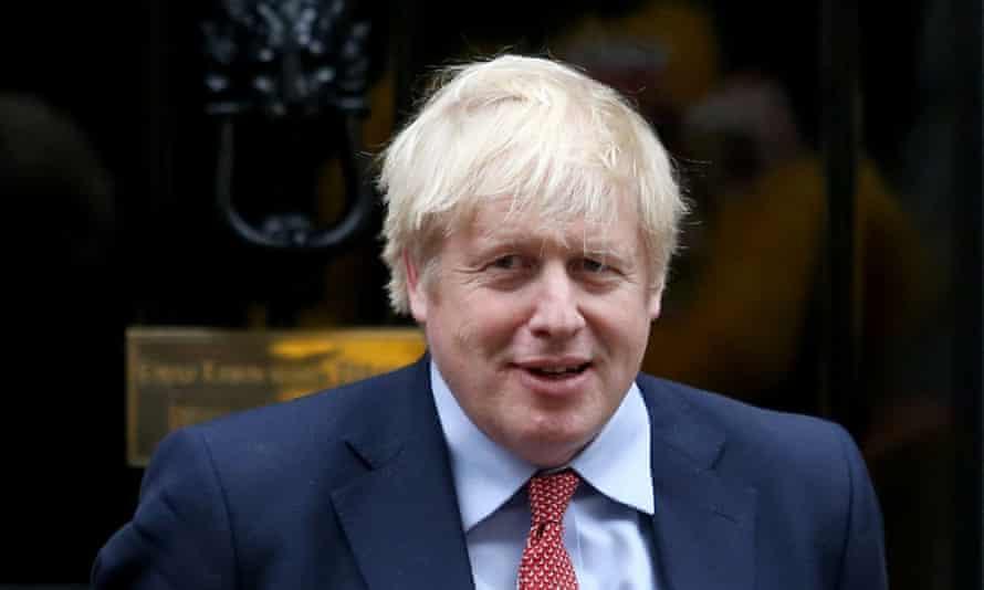 Boris Johnson at No 10 Downing Street