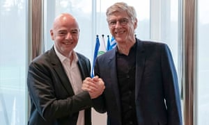 Image result for images of Arsène  Wenger and FiFA president