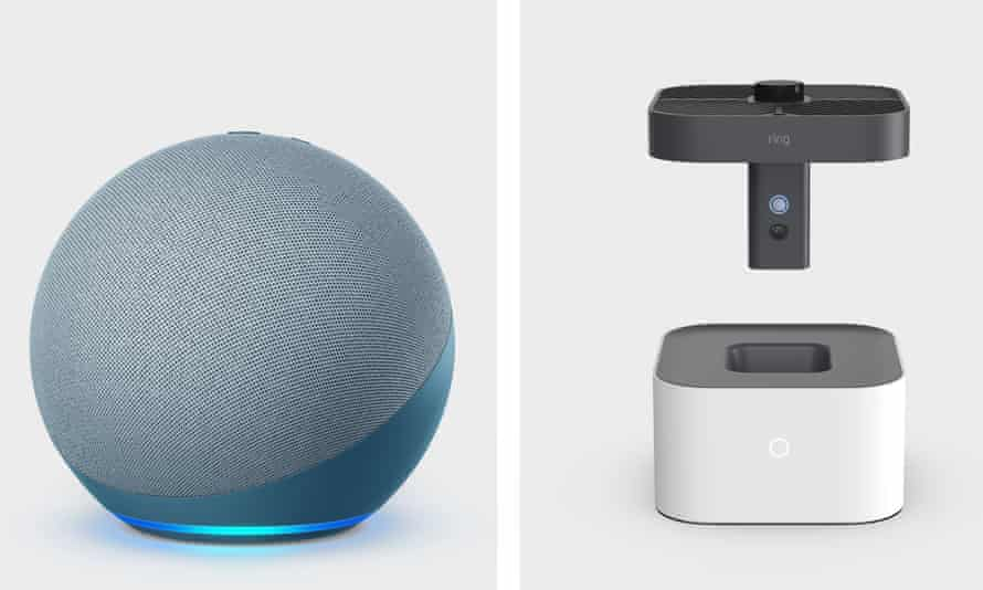 Next generation Amazon Echo is a fabric-covered sphere while new Ring Always Home Cam can fly around your house to record security events.